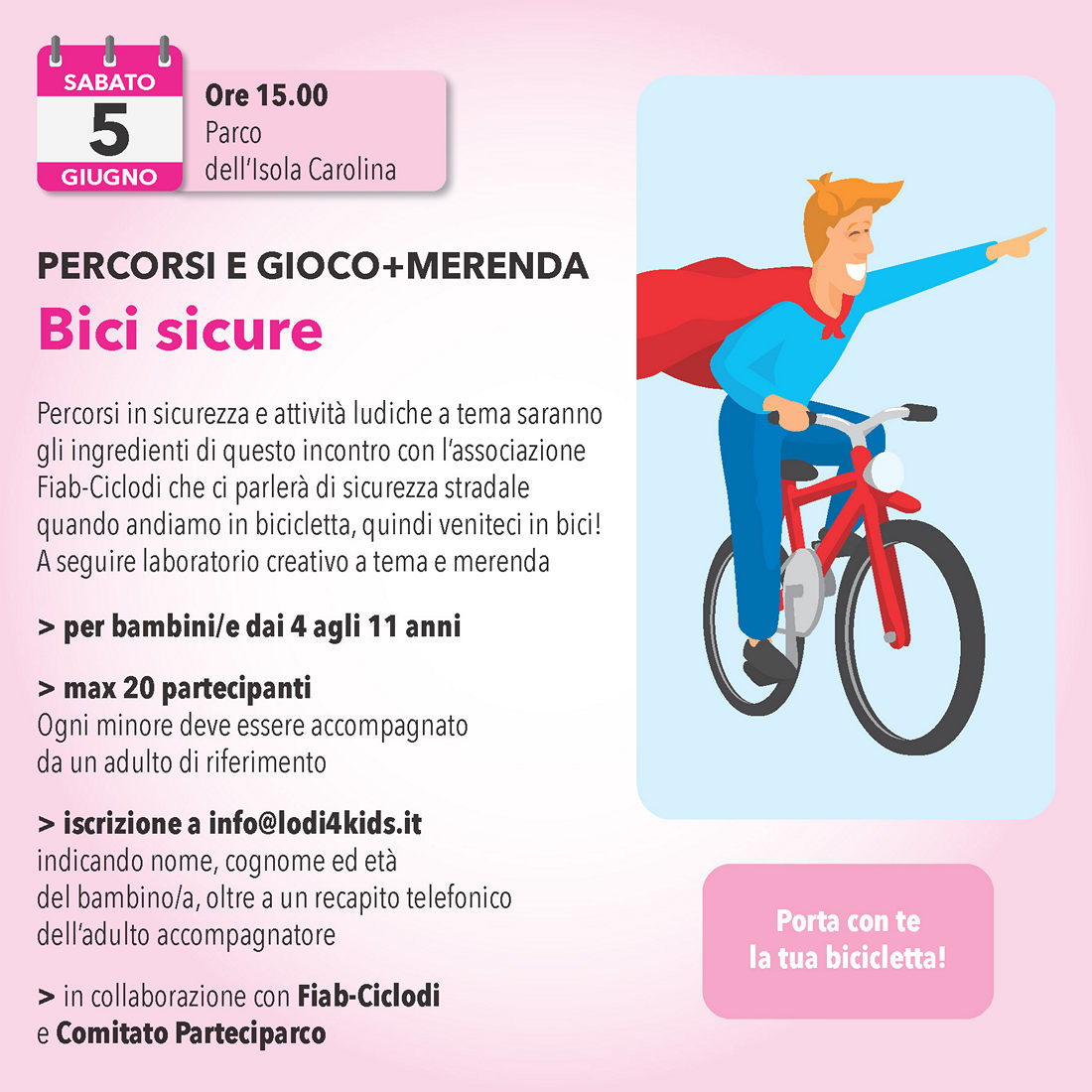 5 giugno: Bici sicure