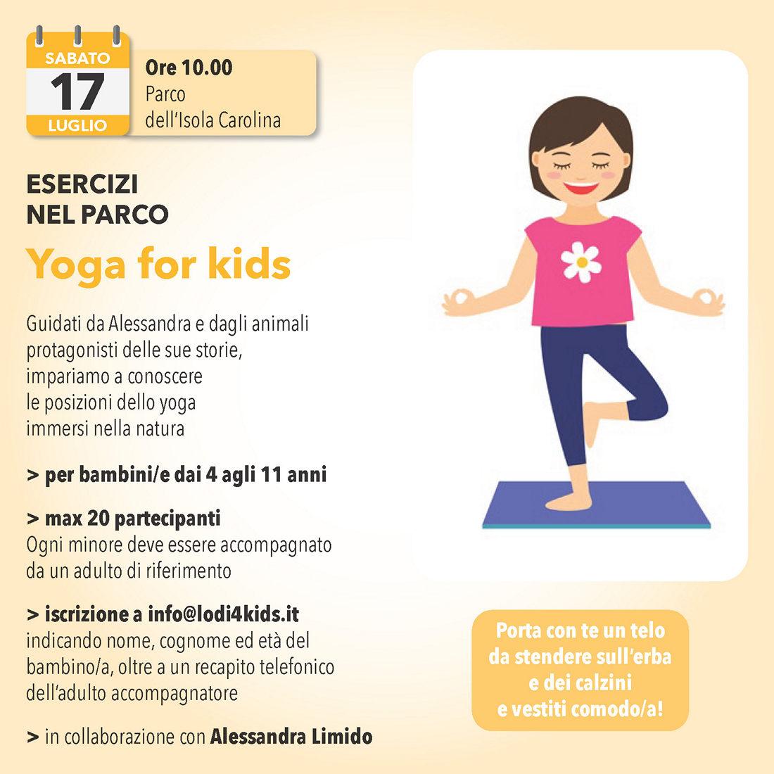 17 luglio: Yoga for kids